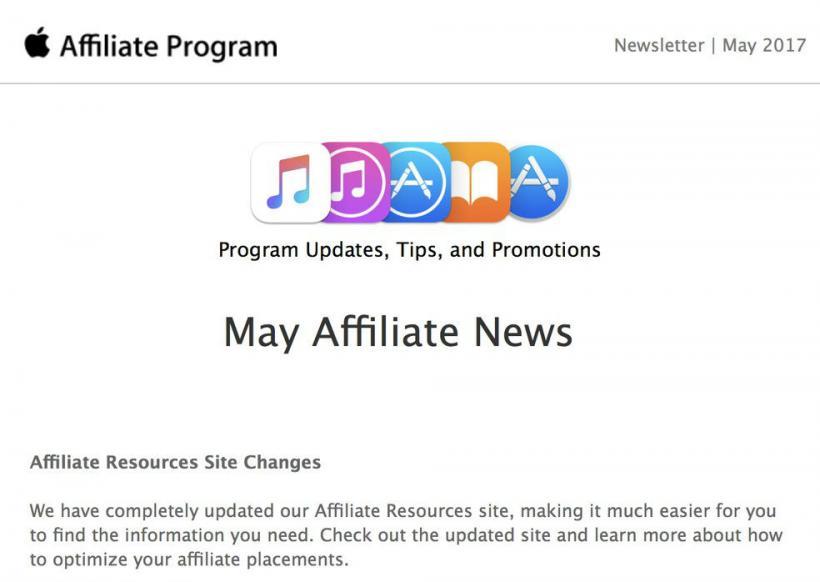 Apple Affiliate News