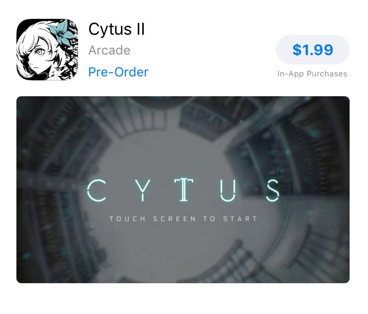 Cytus II Preorder