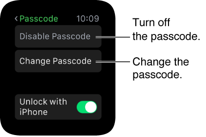 Disable Apple Watch Passcode