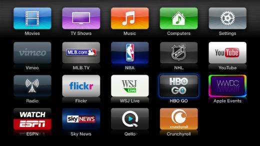 The Apple TV currently comes with 60 pre-installed apps.