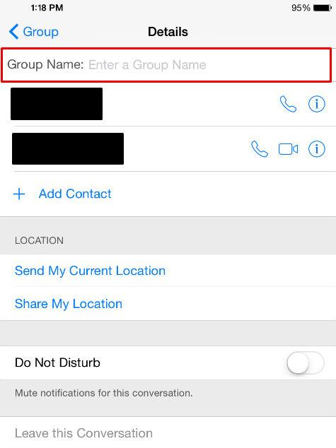 Name your group texts to keep track of them easily.