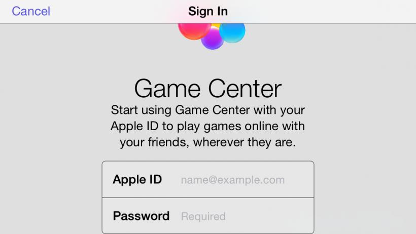 Game Center Login