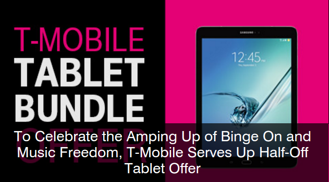 T-Mobile Tablet Deal